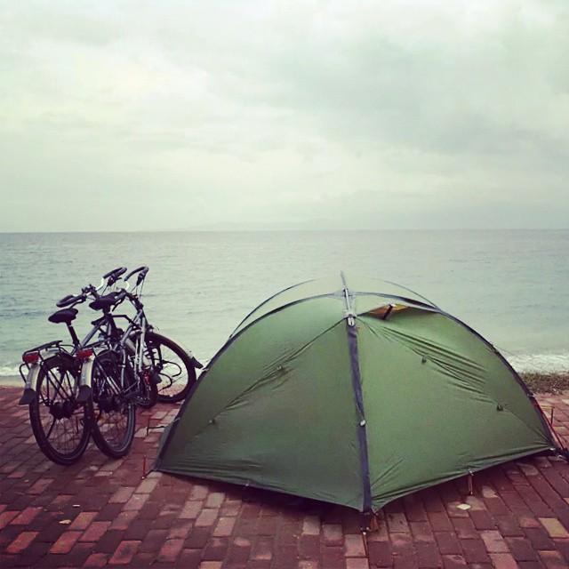 Bisiklet Gezgini Başak ve Rahman bugün yola çıkar. İyi yolculuklar! :) #bisiklet #idworx #ortlieb #rohloff #bicycle #bicycletour #touring #touringbicycle #cycling #cycletouring #gezgin #travel #explorer