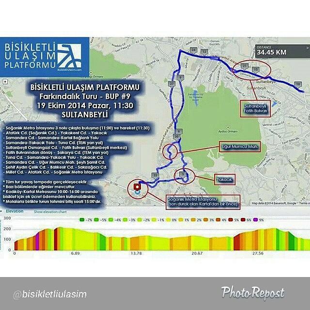 19 ekim pazar Sultanbeyli'de sürüyoruz bisikletlerimizi! Katılın bize!