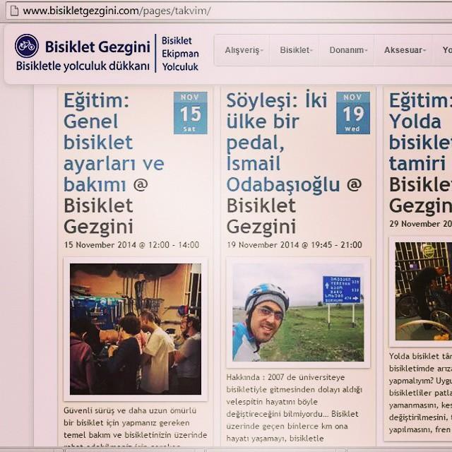 Bisiklet Gezgini etkinlikleri devam ediyor.  bisikletgezgini.com/pages/takvim #eğitim #söyleşi #bisiklet #bicycle