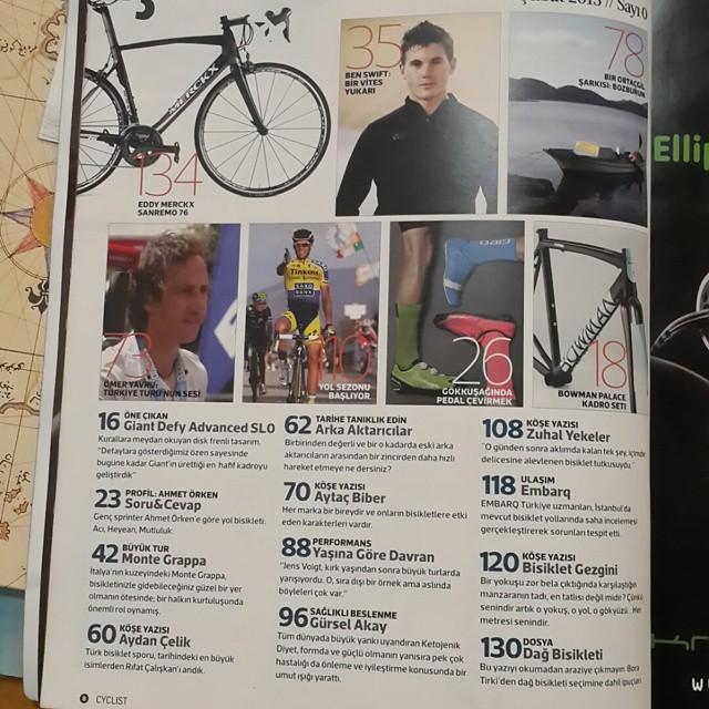 @cyclistturkiye dergisi 28 Şubat cumartesi günü bayilerde.  Gönüllü çıkan e-dergilerden sonra Türkiye'nin basılı ilk #bisiklet dergisi hoş geldin! :) Bisiklet Gezgini olarak biz bir parçası olmaktan pek mutlu olduk.  Turkey's first printed bicycle magazine  is coming on 28th of February. :) @gokhankutluer @tufansagnak