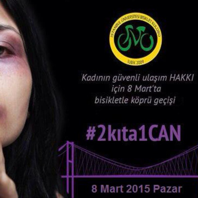 #8mart kadının güvenli ulaşım hakkı için #Boğaziçi Köprüsü'nden geçiyoruz.  https://www.facebook.com/events/339187839601525/  10:30da Lütfi Kırdar Kongre Merkezi'nden hareket ediyoruz.  #şiddetehayır #notoviolance #noalaviolanze #ÖzgecanAslan #GüldünyaTören #kadınaşiddetehayır #2kıta1CAN  @iubik1 @bisikletliulasim