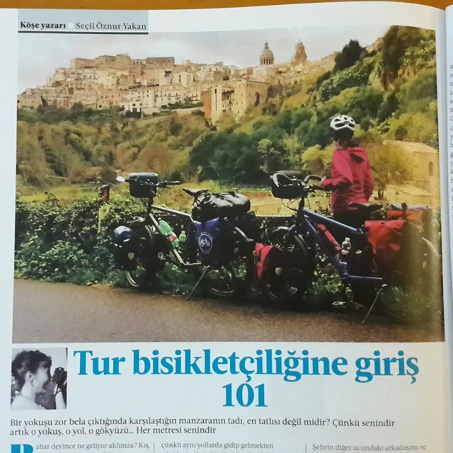 @cyclistturkiye dergisinin tur bisikleti yazısı tabii ki Bisiklet Gezgini'nden. Tur bisikletçiliğine giriş 101 :) Nisan ayındaki ikinci sayıya yetişin. İlk sayıyı almak için son 10 gün.