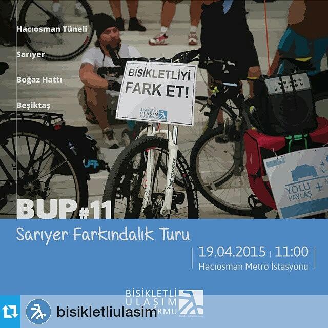 #Repost @bisikletliulasim ・・・ #bisiklet in bir #ulaşım aracı olduğunu göstermek, #bisikletli lerin #trafik teki haklarına dikkat çekmek, #YoluPaylaş #MesafeyiKoru #TrafikteBizdeVarız demek için, #pazar günü #bup #11 #farkındalık turunda bu defa #sarıyer deyiz. Sen de bize katıl!  #istanbul #bicycle #bicicleta #bikestagram #instabike #YoluPaylas #TrafikteBizdeVariz #ShareTheRoad #DriveFriendly #KeepDistance #sunday #weekend #event #awareness #bisikletliulasim #BisikletliUlasimPlatformu